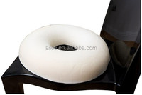 donut shape memory foam wooden bead car seat cushion for office chair