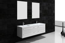 waterproof bathroom cabine double sinks
