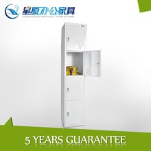 customized konck down 4 compartment steel cabinet clothes locker