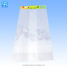 Biodegradable Transparent Raw Materials Packaging Plastic Clear OPP Bag With Header And Self Adhesive Seal Type