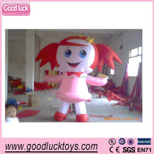 new products Attractive girl inflatable cartoon, inflatable costume,