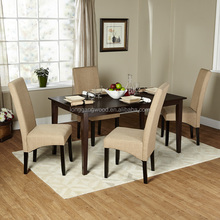 wood dining table and chair for dining room