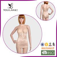 Top Grade Comfortable Mature Lady Printed Flower Corset Bodysuit