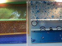 3D EVA transparent shower curtains for manufactured home