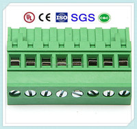 Brass Pin Plug-in 5.0mm 5.08mm Pitch 300V 15A PCB Terminal Block Connector XS2ESDV with UL, CE, ISO, SGS, CQC Approved