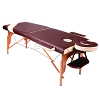2 Section Sale From Stock Hot Sell Massage Wood Bed Portable Massage Tables