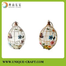 wholesale metal lantern,cheap flower bird cage candle holder ,metal candle holder