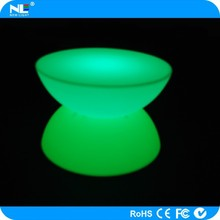 Fancy decoration rechargeable make LED plastic light up coffee bar table