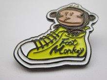 Foot Monkey soft enamel lapel pin