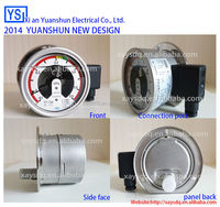 Oil filled all stainless steel 63mm pressure gauge contact switch