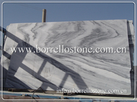 White Marble Slabs with Grey Veins