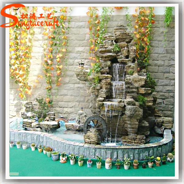 Indoor decor garden pond fiberglass fish ponds stone for Pond fountains for sale