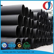 Plástico HDPE PE100 gran diámetro de precios de tubería de drenaje perforada corrugado