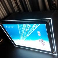 Window Display Double Side Storefront LED Backlit Picture Frame