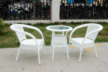 shunde furniture cheap outdoor folding chair two seat with table