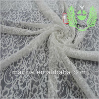 100 polyester lace fabric with classic flower design for girls