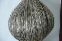 Perfect Looks Curly Gray/Grey Remy Human Hair Weaving Virgin Hair Extensions Human Brazilian