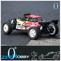kids rc car electric motor 1/18 scale desert buggy brushed servo