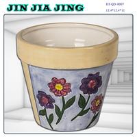Elegant ceramic planter flower pot