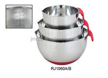 New Style stainless steel mixing bowl set with handle /salad bowl set