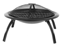 Amazon Basics Portable Folding Fire Pit with Cooking Grate