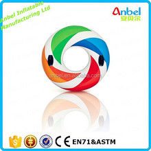 Anbel High Quality Swimming Ring Giant Inflatable Color Whirl Floating Tube Raft with Handles 47""