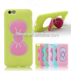 Bowknot Stand Function Cute Back Cover Case for Apple iPhone 6