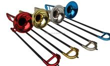 Di plastica trombone con color metallo finitura(in jptb- 1010)