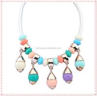 bulk fancy hot sale colorful beads heavy choker women women plastic party bead necklace factory china