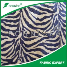 100% polyester 2.5mm upholstery zebra print faux fur fabric