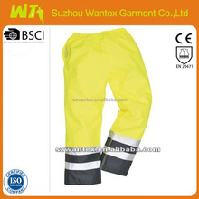 high quality reflective tape work pants with high visibility
