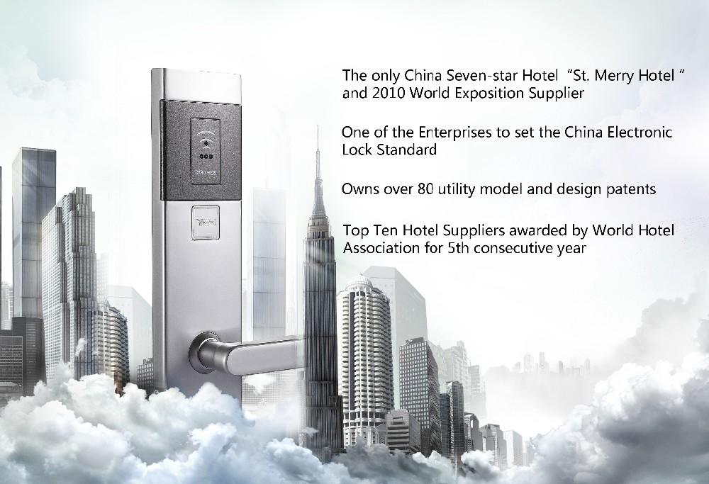 최고 품질의 RFID 전자 아델 카드 호텔 도어 잠금