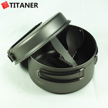 2015 New Design Two Pieces Outdoor Cooking Solutions Fry Pan With Lid Pots Cookware