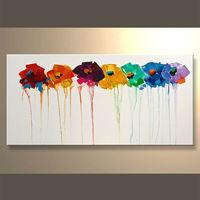 el más reciente de flores hechas a mano cuadros deimagen para decoración
