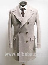 Doble- botonadura, clásico personalizado a medida de largo abrigo para el invierno