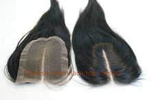 100% human hair natural color straight hair pieces hand tied