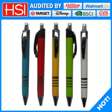stationery writing instrument plastic chrome plated ball-point pen