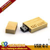 Wholesales Hight Quality Rectangular Wooden Flash Pendrive 2.0