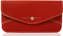 2015 Inflatable famale price fancy leather thin long ladies wallet