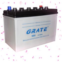 lead acid dry charge car battery maintenance autotmotive batteries sale 12V75AH n70z branded car battery