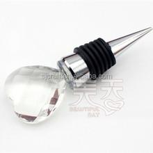 delicate heart crystal wine stopper SJ-JPS035