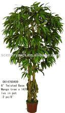 6' artificial mango treex 1476 lvs hojas de color verde