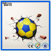 Christmas Gifts cartoon football soccer ball children gift led wall lamp 3D stick bedroom light party supplies