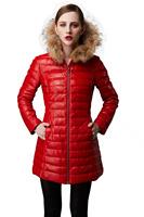 Black Women Winter Hooded Goose Down Jacket