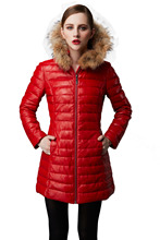 Black Women Winter Hooded Goose Down Jacket