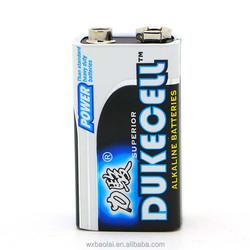 Alkaline 6LR61 Dry Cell Battery 9V Mercury-free batteries