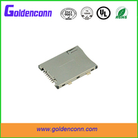 sim card connector socket holder slot 6P SMT type with push push 1.8mm height