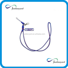 2015Hot selling custom new design plastic zipper lanyards