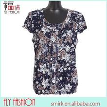 F176-3# 2015 Middle age women big size summer chiffon blouse
