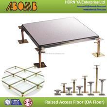 600x600mm HPL fireproof computer room floor tile leveling system adjustable pedestal raised floor price in antistatic flooring